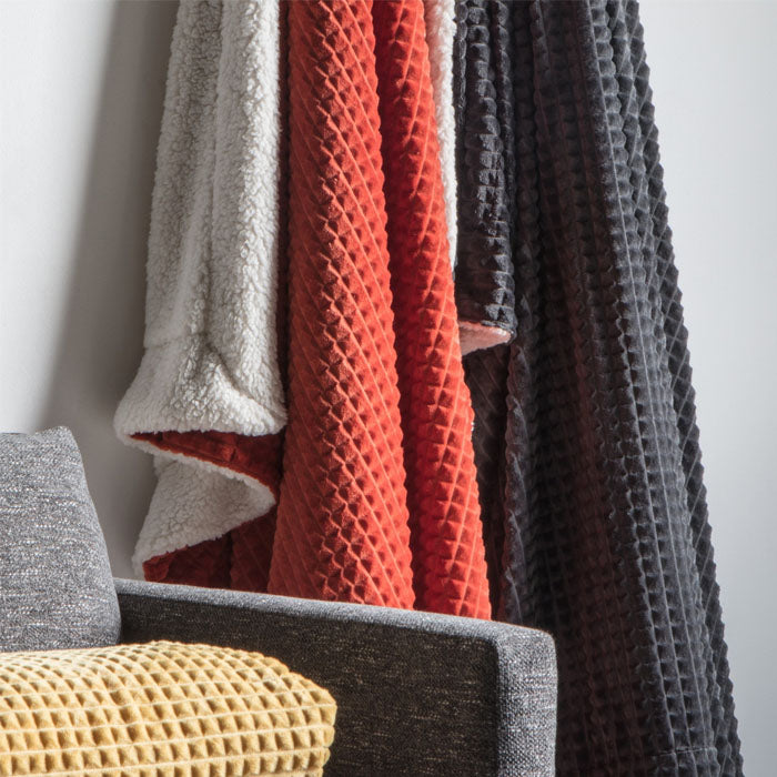 Reese Embossed Cubic Throw Burnt Orange - Notbrand