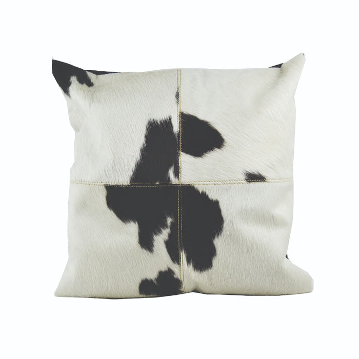 Black and White Cow Fur Cushion Cover - Notbrand
