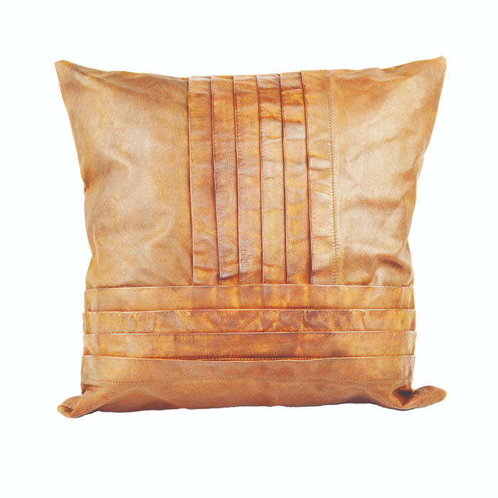 Tan Leather Cushion Cover - Notbrand
