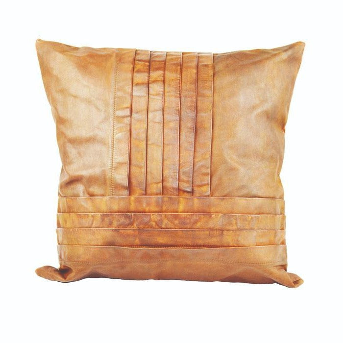 Daealla Tan Leather Cushion Cover - Notbrand