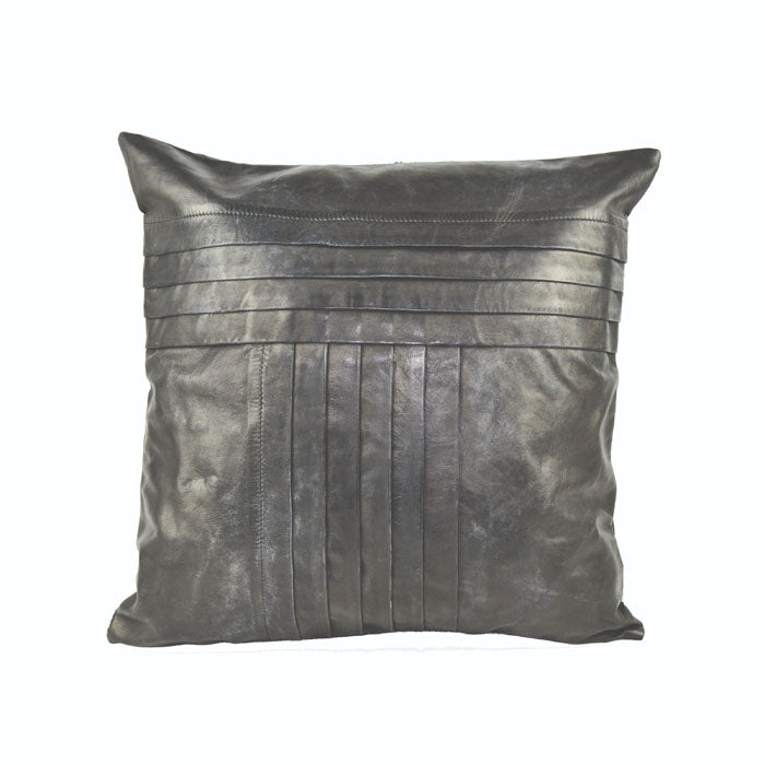 Daealla Black Leather Cushion Cover - Notbrand