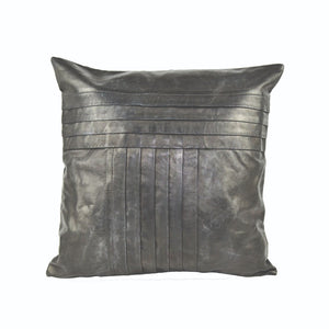 Black Leather Cushion Cover - Notbrand