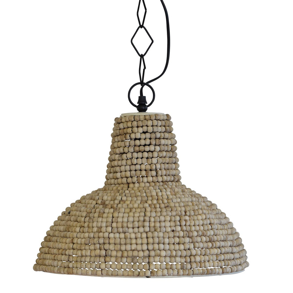 Zimbabwe Wooden Beads Pendant Light Large - Notbrand