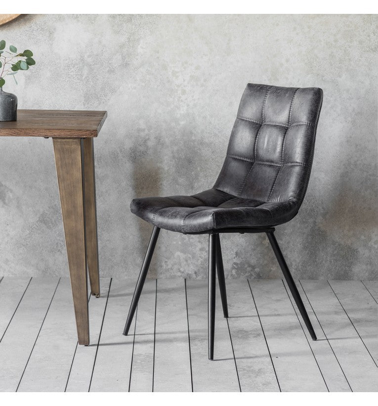 Abner Grey Chair (Set of 2)