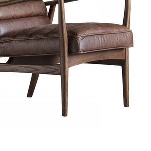 Huxley Armchair Vintage Brown Leather