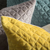 Stellan Diamond Quilted Cushion Duck Egg - Notbrand