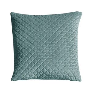 Diamond Quilted Cushion Duck Egg