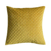 Stellan Diamond Quilted Cushion Ochre - Notbrand
