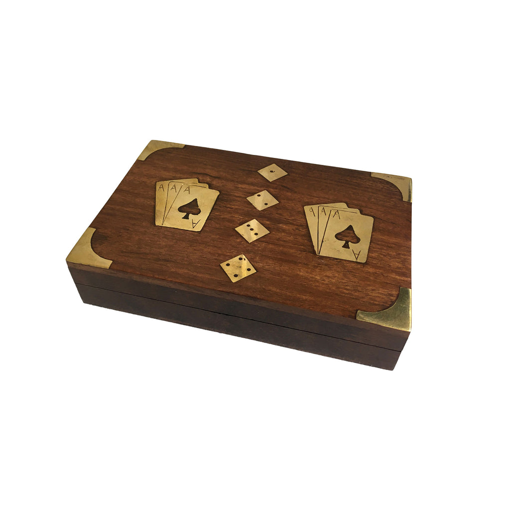 Rosewood Dice & Playing Cards Box - Notbrand