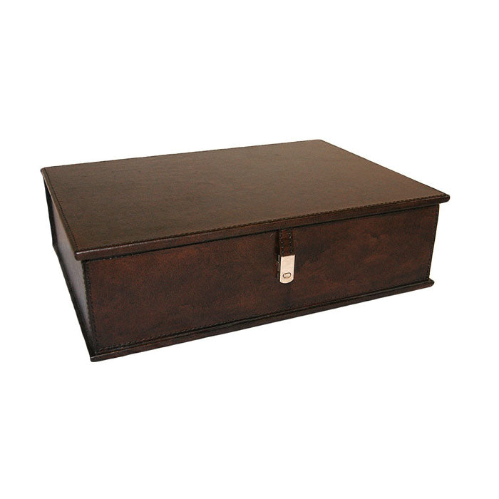 Pharom Dark Leather Document Box - Notbrand