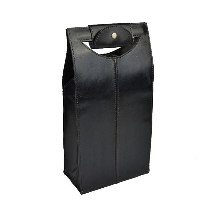 Nesterin Black Leather Double Wine Holder - Notbrand