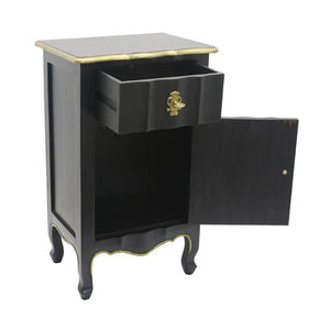 Dynasty 1 Drawer 1 Door Bedside Table - Notbrand