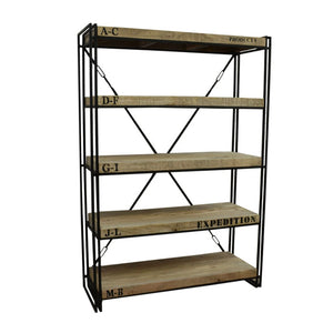 Expedition Mango Timber Industrial Bookcase Shelving Unit - Notbrand