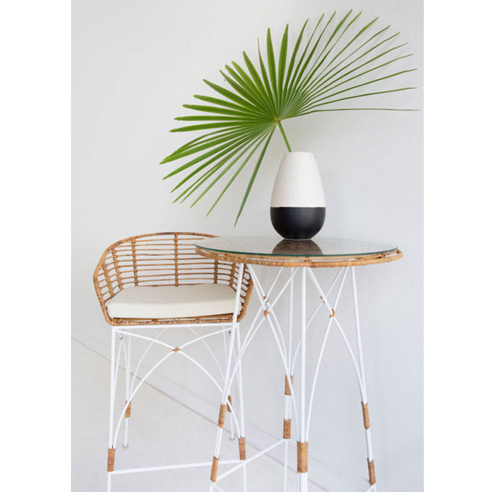 Harlan Rattan Bar Stool