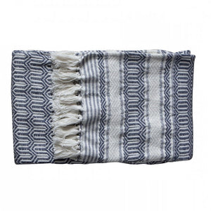 Knox Cotton Slub Throw Slate Grey - Notbrand