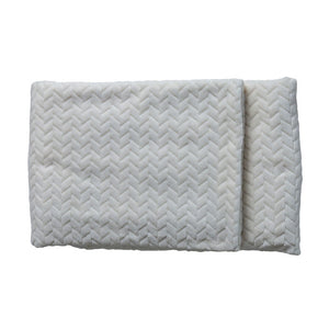 Linus Embossed Chevron Throw Cream - Notbrand