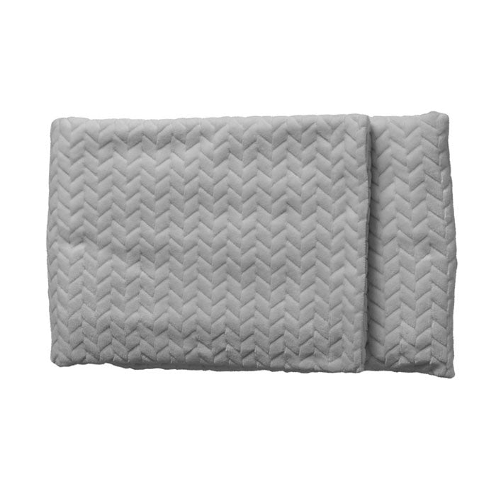 Linus Embossed Chevron Throw Silver - Notbrand