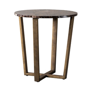 Vincezo Round Marble Top Side Table - Notbrand