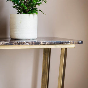 Vincezo Marble Top Console Table - Notbrand
