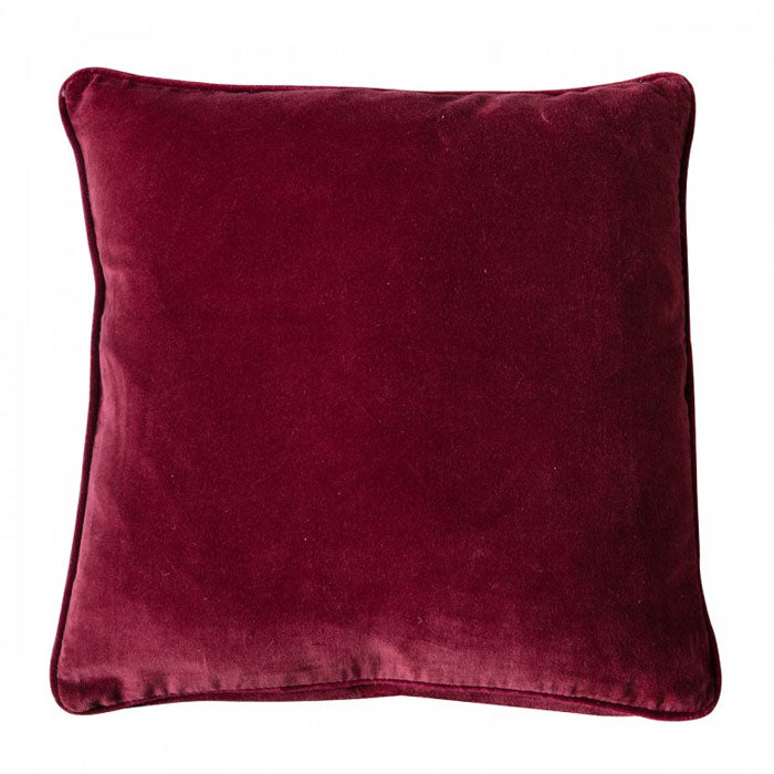 Blakely Velvet Cushion Claret - Notbrand