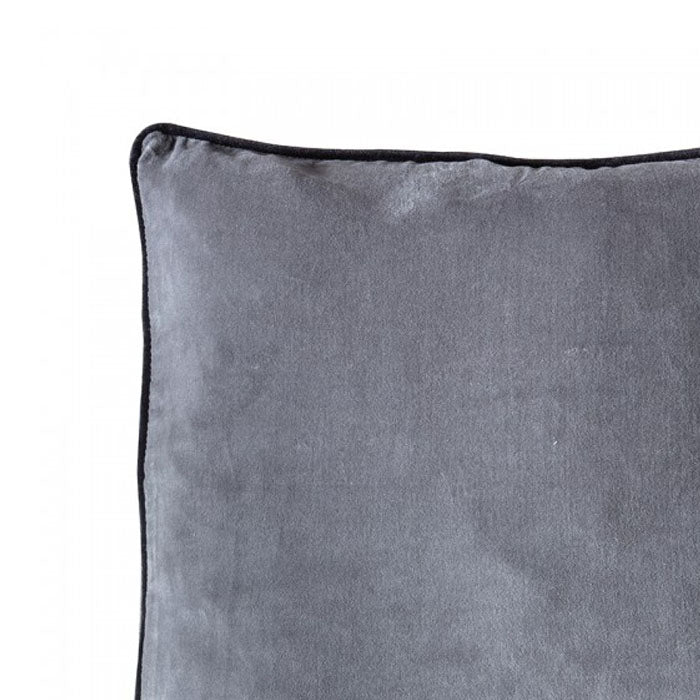 Eterno Velvet Cushion Grey - Notbrand