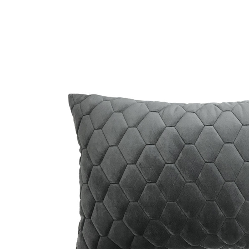 Ettra Charcoal Grey Pillow - Notbrand