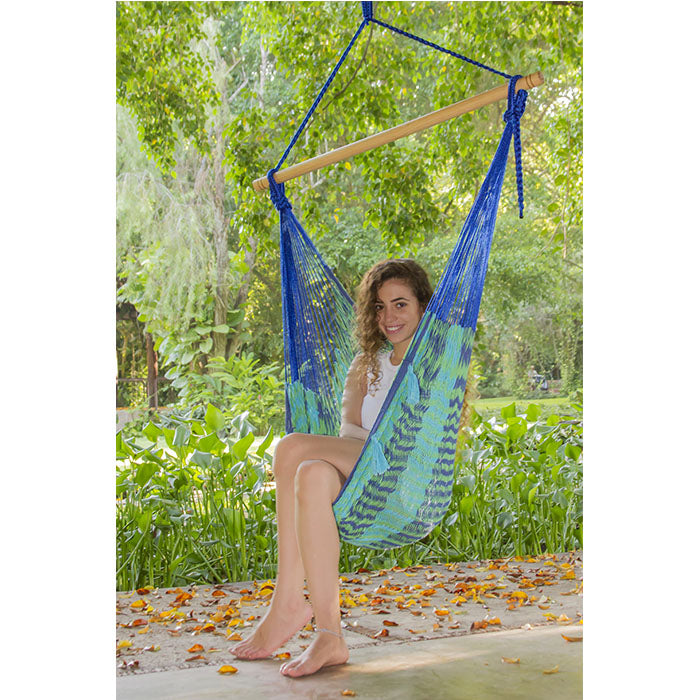 Caribe Outdoor Cotton Mexican Hammock Chair - Extra Large - Notbrand
