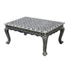 Enzo Eye Design Bone Inlay Black Coffee Table - Notbrand
