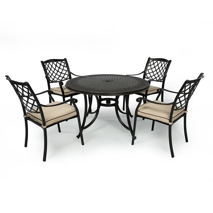 Set of 5 Pieces Fuji Cast Aluminium Outdoor Dining Setting