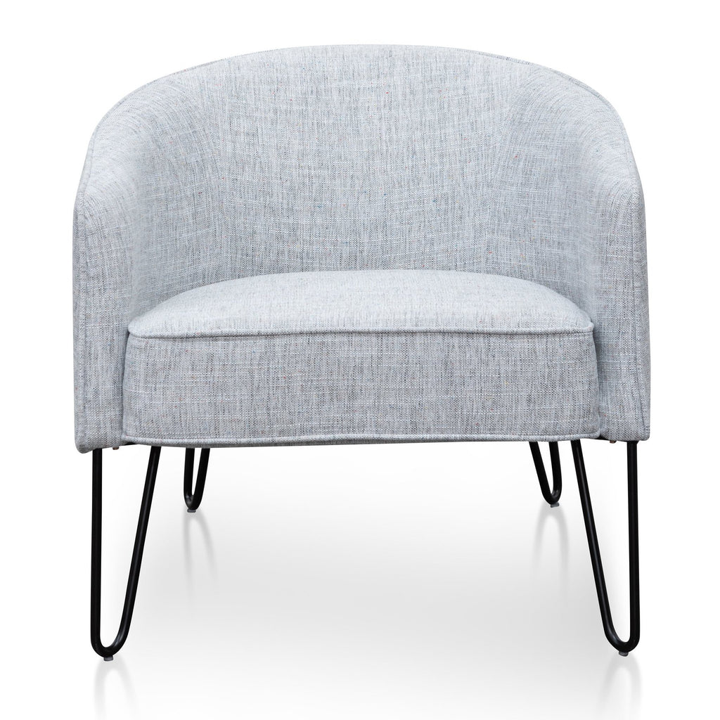 Abydos Light Spec Grey Fabric Armchair - Notbrand