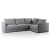 Fabric Right Corner Sofa - Rock Grey - Notbrand