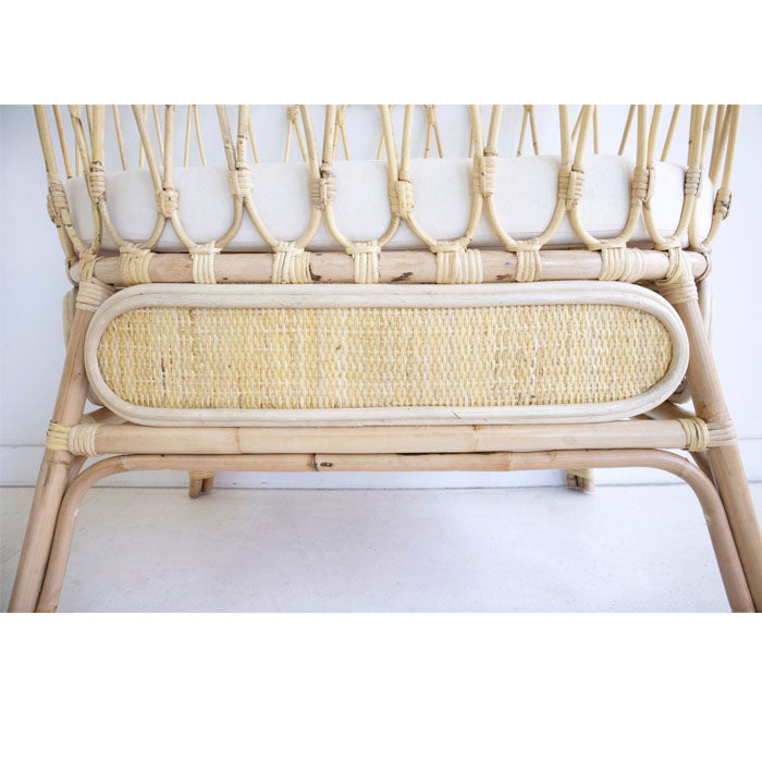 Farah Rattan Baby Bassinet Light Natural
