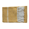 Ryder Faux Mohair Chevron Throw Ochre - Notbrand