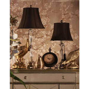 Felicienne Champagne Table Lamp w/Black Shade - Notbrand