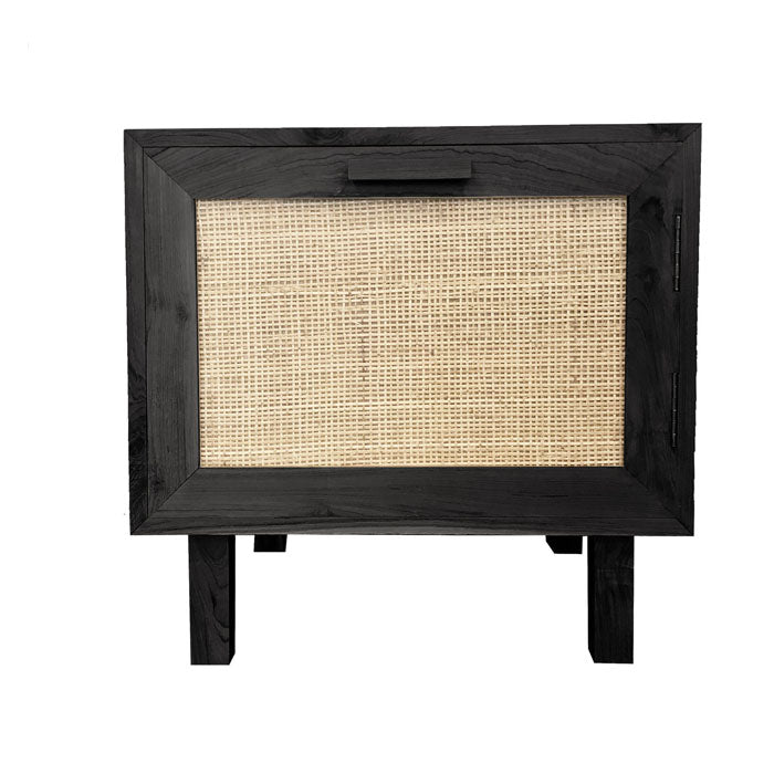 Felix Black Bedside Table - Notbrand
