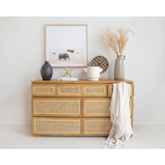 Orlando Chest of Drawers Dresser – Eight Drawers
