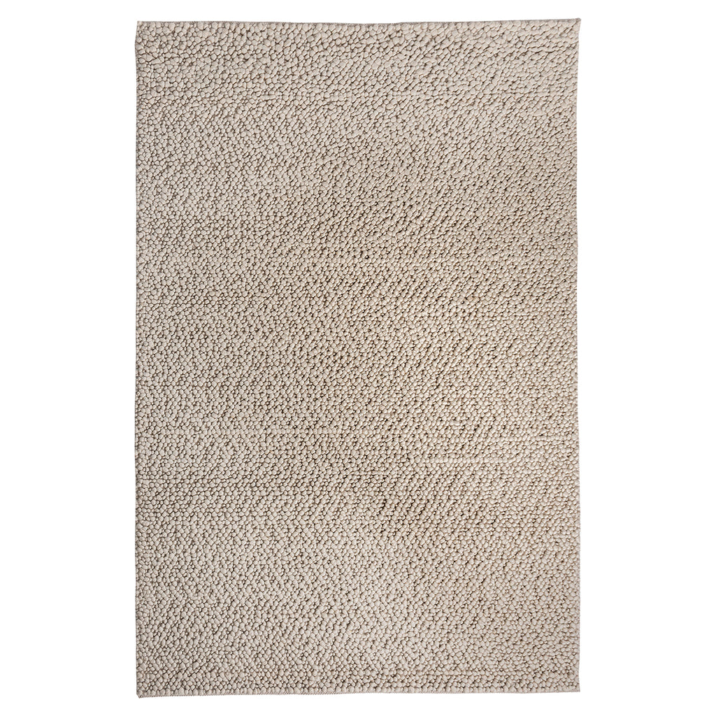 Ivory Fish Eye Hand Woven Wool Rug