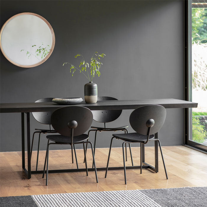 Cosima Dining Table Black 2.2m - Notbrand