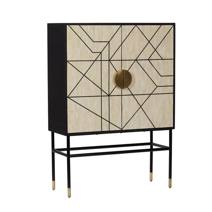 Harold Full Bone Inlay Cabinet - Notbrand