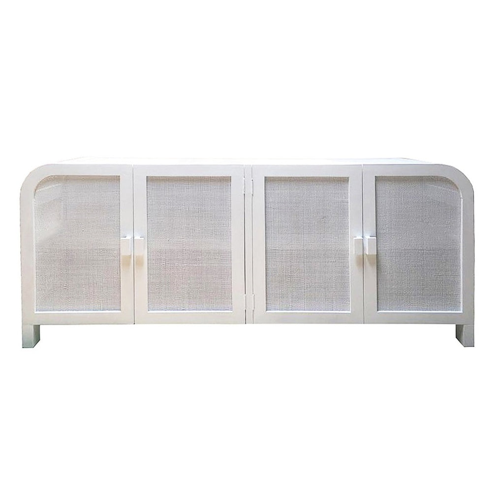 Grace Rattan Buffet Chalk White - Notbrand