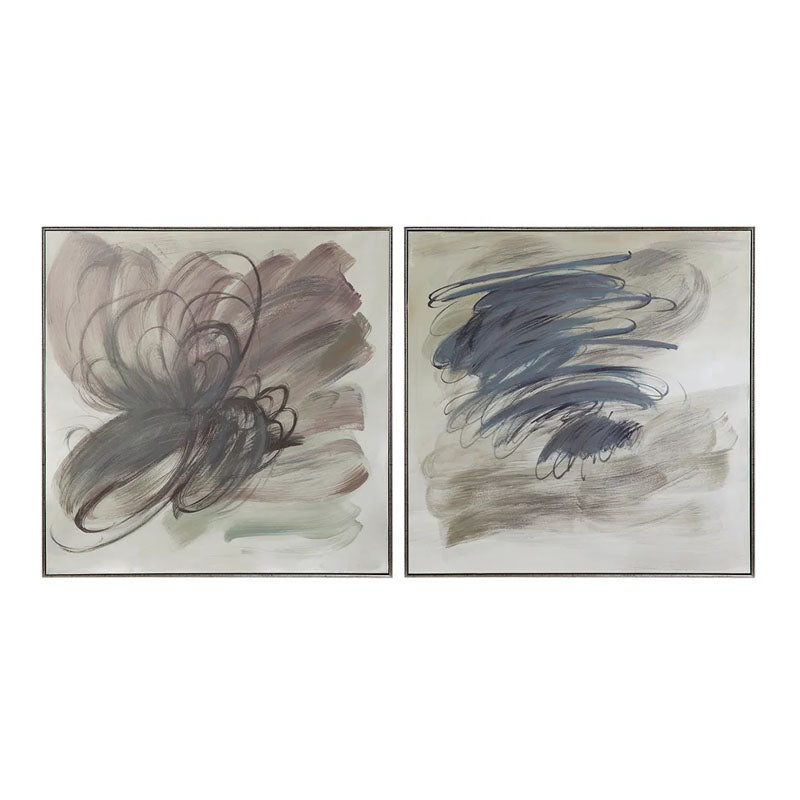 Grey Invasion Hand Painted Art - Set of 2 - Notbrand