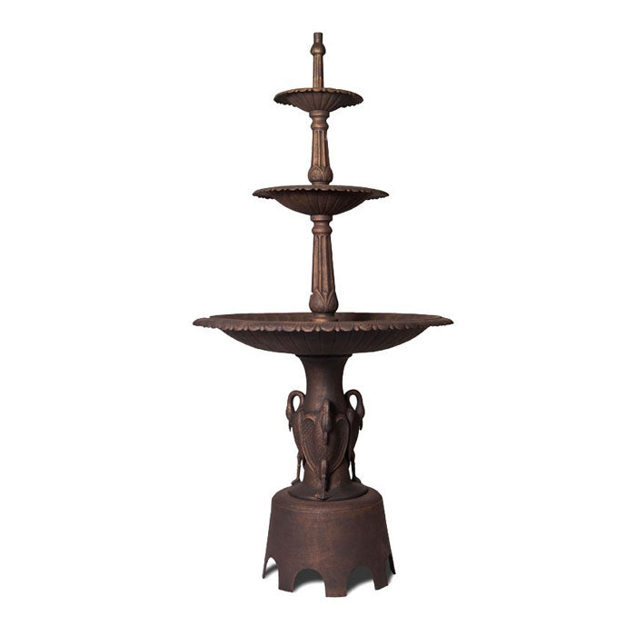 Heron Cast Iron Garden Fountain - Notbrand