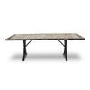Horizon Slate Stone Table on Minerva Steel Base 220cm - Notbrand