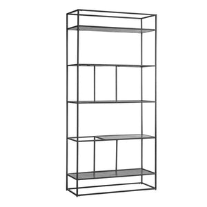 Ziva Display Shelving Unit Antique Silver - Notbrand