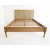 Percy Timber and Cane Low End Bed – Weathered Oak - Notbrand