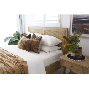 Percy Timber and Cane Bed – Weathered Oak - Notbrand