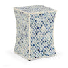Amoli Coloured Bone Inlay Modern Design Side Table Stool - Notbrand