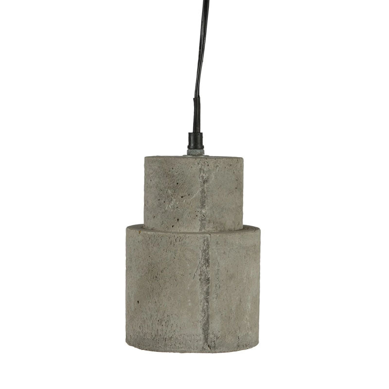 Concrete Shade Hanging Light With Aluminium Canopy - Notbrand