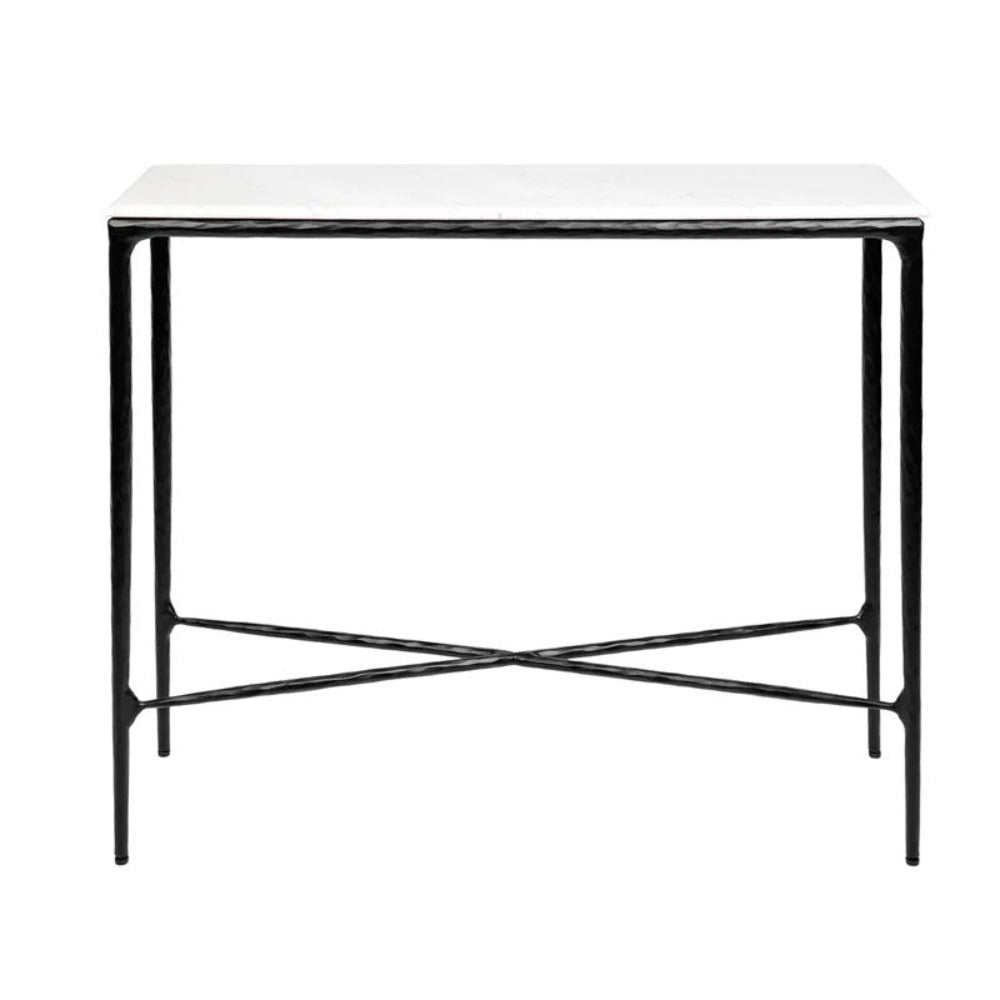 Heston Marble Console Table - Small Black - Notbrand