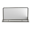 Rectangular Metal Frame Mirror with Shelf - Graphite - Notbrand
